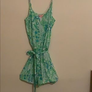 Women's Lilly Pulitzer Belted Romper ~ size XS